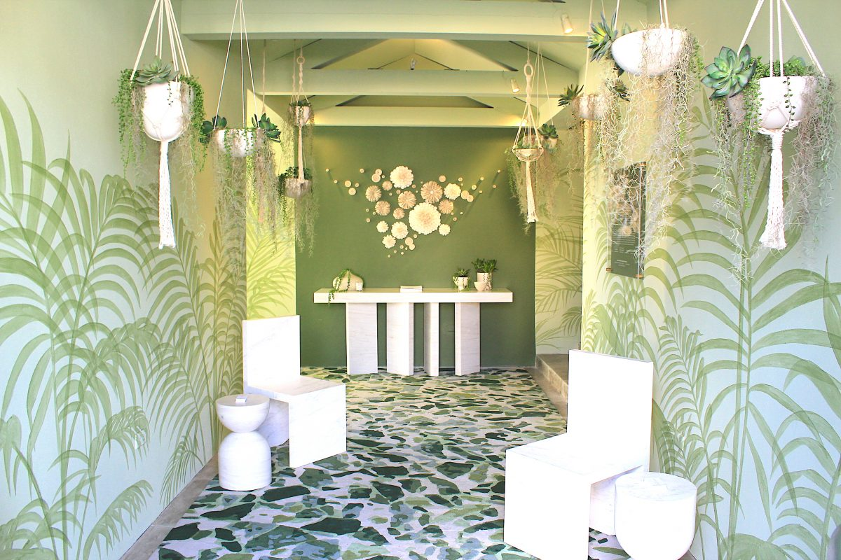 """Le Jardin"" by Alizee Brion, ""Light On White"" Kips Bay Decorator Show House West Palm Beach 2020"